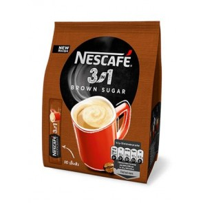"Instant kávé stick, 10x17 g, NESCAFÉ ""3in1"", barna cukorral"