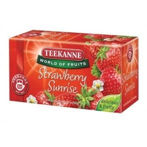 "Gyümölcstea, 20x2,5 g, TEEKANNE ""Strawberry Sunrise"", eper"