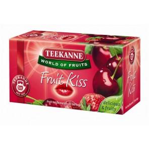 """Gyümölcstea, 20x2,5 g, TEEKANNE """"Fruit kiss"""", eper-meggy"""