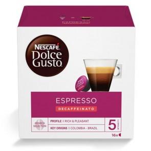 "Kávékapszula, 16x7 g, NESCAFÉ ""Dolce Gusto Espresso"", koffeinmentes"
