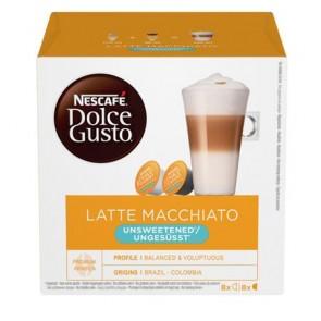 """Kávékapszula, 8x2 db,  NESCAFÉ """"Dolce Gusto Latte Macchiato"""", cukormentes"""