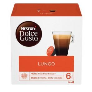 "Kávékapszula, 16 db,  NESCAFÉ ""Dolce Gusto Caffé Lungo"""