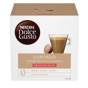 "Kávékapszula, 16 db,  NESCAFÉ ""Dolce Gusto Cortado"", koffeinmentes"