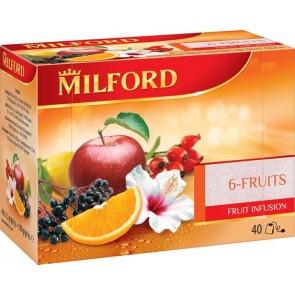 Gyümölcstea, 40x2,5 g, MILFORD, 6 gyümölcs
