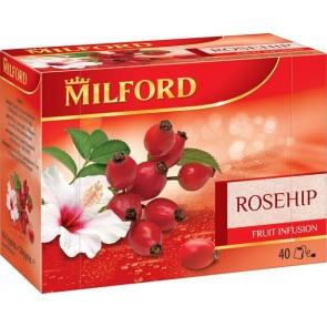 Gyümölcstea, 40x3 g, MILFORD, csipkebogyó-hibiszkusz
