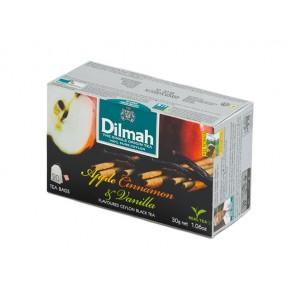 Fekete tea, 20x1,5g, DILMAH, alma-fahéj-vanília