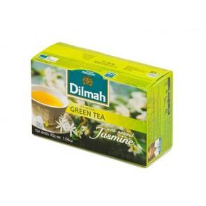 Zöld tea, 20x1,5g, DILMAH, jázmin