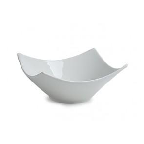 """Kínálótál, porcelán, íves, fehér, 15x15cm, 2db-os szett, """"CoffeeTime"""""""