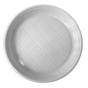 Műanyag lapos tányér, 20 db