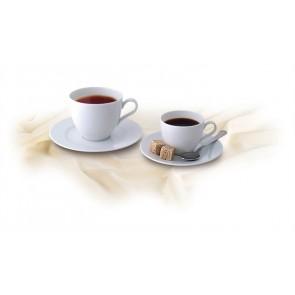 """Kávéscsésze+alj,ROTBERG, fehér, 22cl, 6db-os szett, """"Basic"""""""