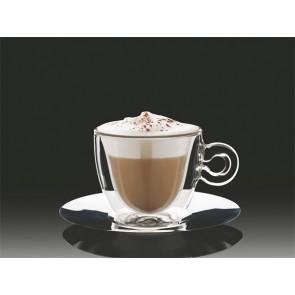 """Cappuccinos csésze rozsdamentes aljjal, duplafalú, 2db-os szett, 16, 5cl """"Thermo"""""""