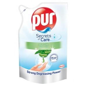 """Mosogatószer, utántöltő, 450 ml, PUR """"Secrets of Care"""", aloe vera balzsam"""