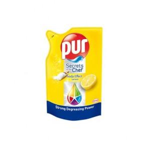 Mosogatószer, utántöltő, 450 ml, PUR EXTRA, citrom