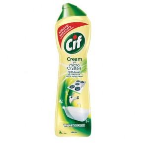 """Súrolószer, 720 g/ 500 ml, CIF """"Cream"""" citrom illat"""