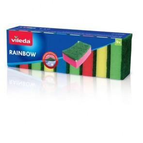 """Mosogatószivacs, 9 db, VILEDA """"Rainbow"""""""