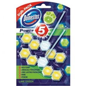 """WC fertőtlenítő, 2 db-os, DOMESTOS """"Power 5"""", lime"""