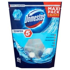 """WC fertőtlenítő, 5 db-os , DOMESTOS """"Power 5"""", óceán"""