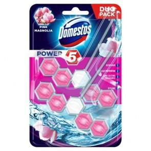 """WC fertőtlenítő, 2 db-os ,DOMESTOS """"Power 5"""", pink magnólia"""