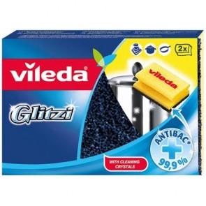 """Súrolószivacs, 2 db, antibakteriális, VILEDA """"Glitzi"""""""