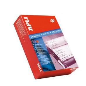Etikett, mátrixnyomtatókhoz, 1 pályás, 127x48,7 mm, APLI, 3000 etikett/csomag