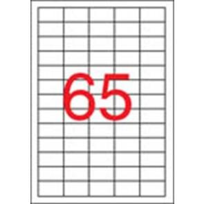 Etikett, univerzális, 38x21,2 mm, eltávolítható, APLI, 6500 etikett/csomag