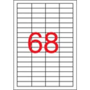 Etikett, univerzális, 48,5x16,9 mm, eltávolítható, APLI, 6800 etikett/csomag