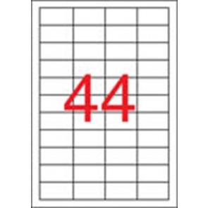 Etikett, univerzális, 48,5x25,4 mm, eltávolítható, APLI, 4400 etikett/csomag