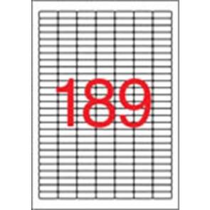 Etikett, univerzális, 25,4x10 mm, eltávolítható, kerekített sarkú, APLI, 4725 etikett/csomag