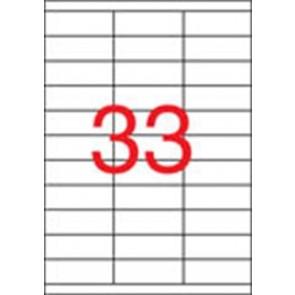 Etikett, univerzális, 70x25,4 mm, APLI, 16500 etikett/csomag