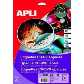 """Etikett, CD/DVD, A4, teljes lefedettségű, matt, APLI """"Mega"""""""