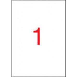 Etikett, univerzális, 210x297 mm, APLI, 25 etikett/csomag
