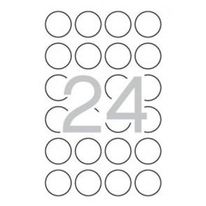 Etikett, 40 mm kör, biztonsági, APLI, 240 etikett/csomag