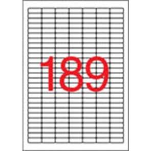 Etikett, univerzális, 25,4x10 mm, kerekített sarkú, APLI, 3780 etikett/csomag
