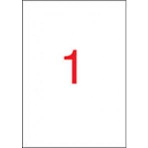 Etikett, univerzális, 210x297 mm, APLI, 20 etikett/csomag