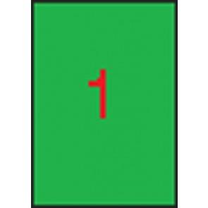 Etikett, 210x297 mm, színes, APLI, neon zöld, 100 etikett/csomag