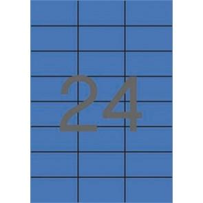 Etikett, 70x37 mm, színes, APLI, kék, 2400 etikett/csomag