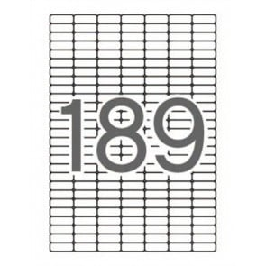 Etikett, univerzális, kerekített sarkú, 25,4x10 mm, APLI, 1890 etikett/csomag