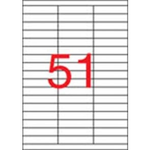 Etikett, univerzális, 70x16,9 mm, APLI, 5100 etikett/csomag
