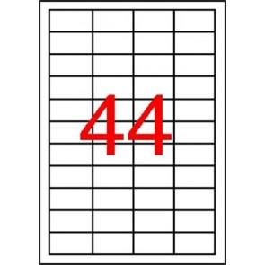 Etikett, 48,5x25,4 mm, poliészter, időjárásálló, matt, APLI, áttetsző, 4400 etikett/csomag