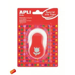 """Mintalyukasztó, tulipán, 25,4mm, APLI """"Creative"""", piros"""