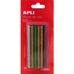 Ragasztó stick, csillámos színek, APLI