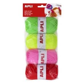 """Gombolyag készlet, APLI """"Creative"""", cukorka színek"""