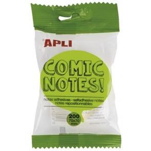 """Öntapadó jegyzettömb, mondatfelhő alakú, 200 lap, APLI """"Comic notes"""""""