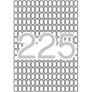 Etikett, 8x12 mm, kerekített sarkú, A5 hordozón, APLI, 3375 etikett/csomag
