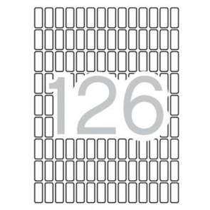 Etikett, 8x20 mm, kerekített sarkú, A5 hordozón, APLI, 1890 etikett/csomag