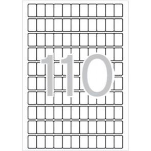 Etikett, 12x18 mm, kerekített sarkú, A5 hordozón, APLI, 1650 etikett/csomag