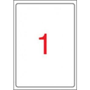 Etikett, univerzális, 199,6x289,1 mm, kerekített sarkú, APLI, 100 etikett/csomag