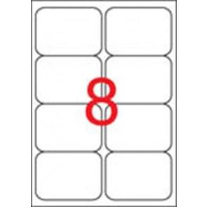 Etikett, univerzális, 99,1x67,7 mm, kerekített sarkú, APLI, 800 etikett/csomag