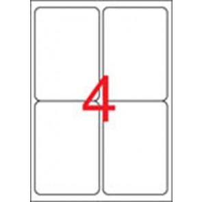 Etikett, univerzális, 99,1x139 mm, kerekített sarkú, APLI, 400 etikett/csomag