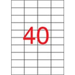 Etikett, lézernyomtatókhoz, 52,5x29,7 mm, APLI, 10000 etikett/csomag